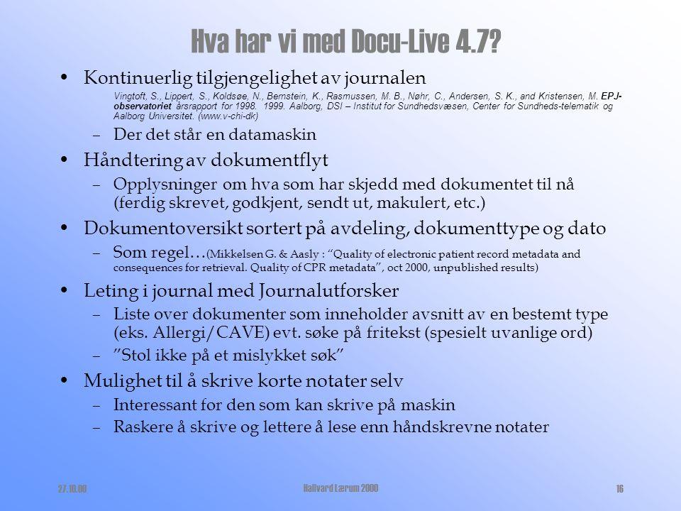 Hva har vi med Docu-Live 4.7