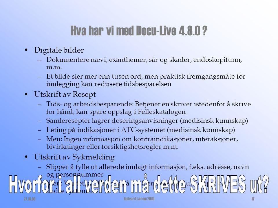 Hva har vi med Docu-Live 4.8.0