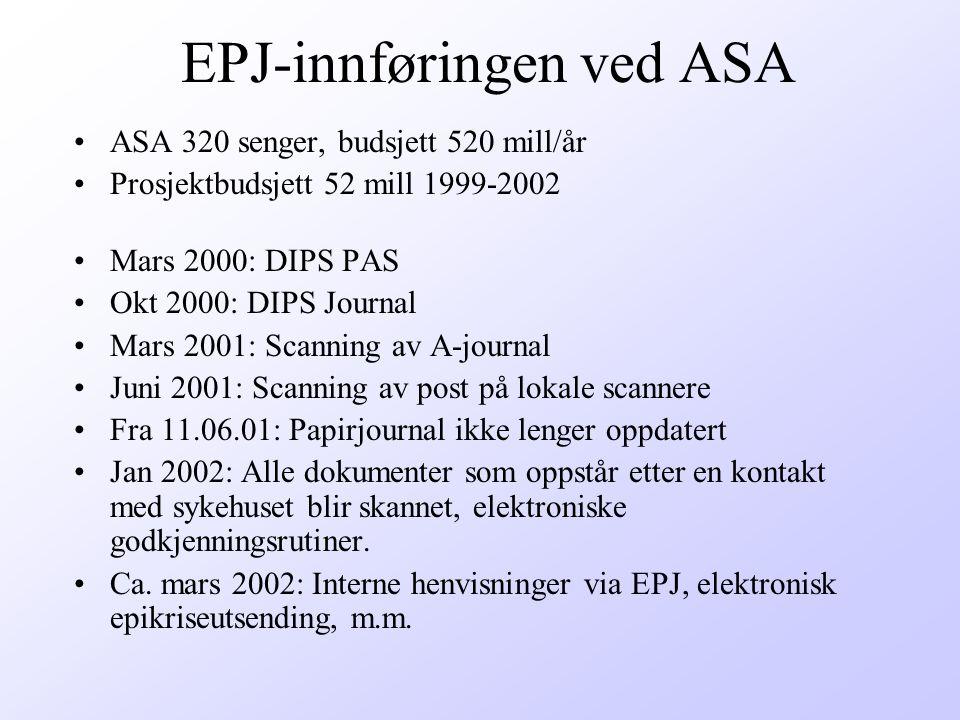 EPJ-innføringen ved ASA