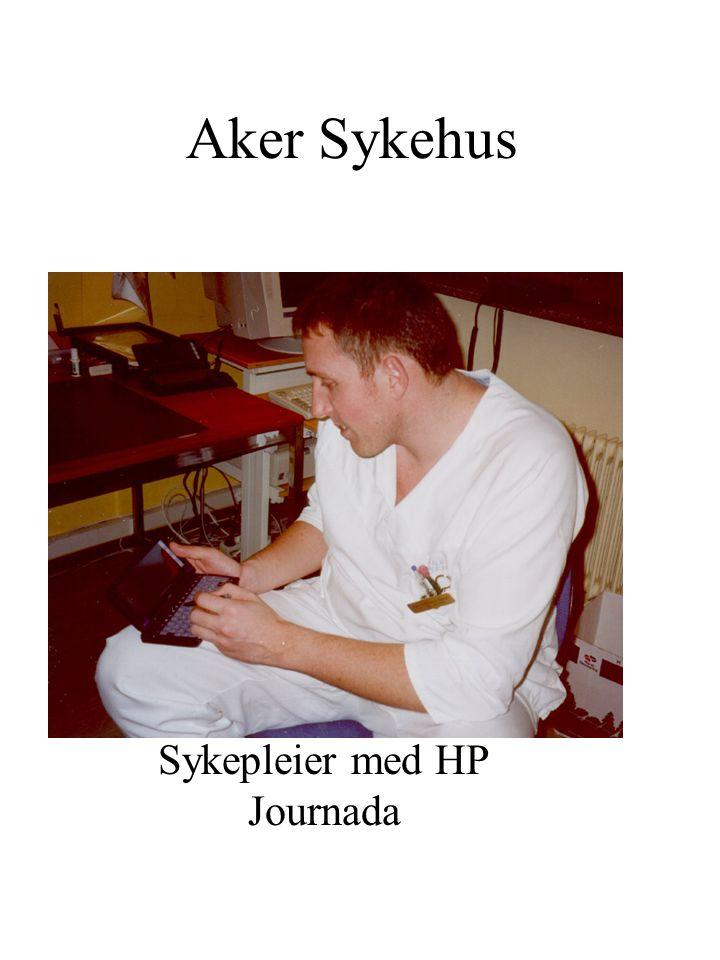 Sykepleier med HP Journada