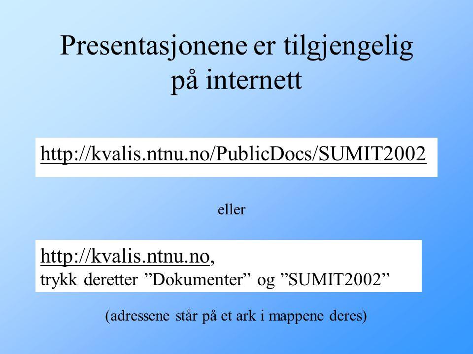 Presentasjonene er tilgjengelig på internett