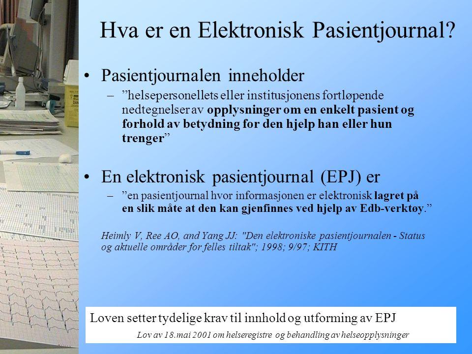 Hva er en Elektronisk Pasientjournal
