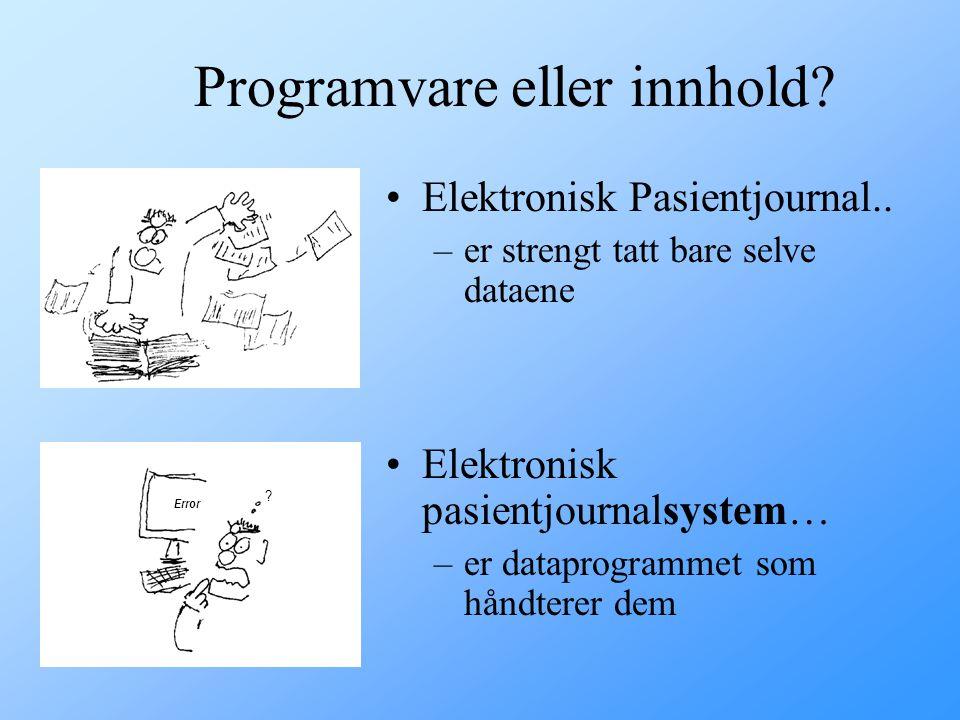 Programvare eller innhold