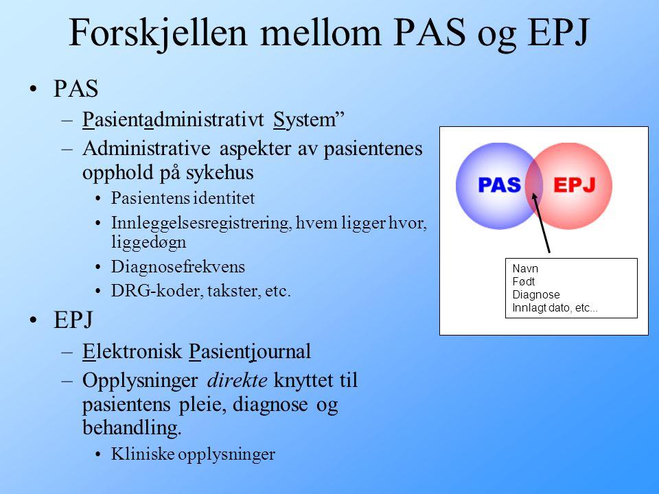 Forskjellen mellom PAS og EPJ
