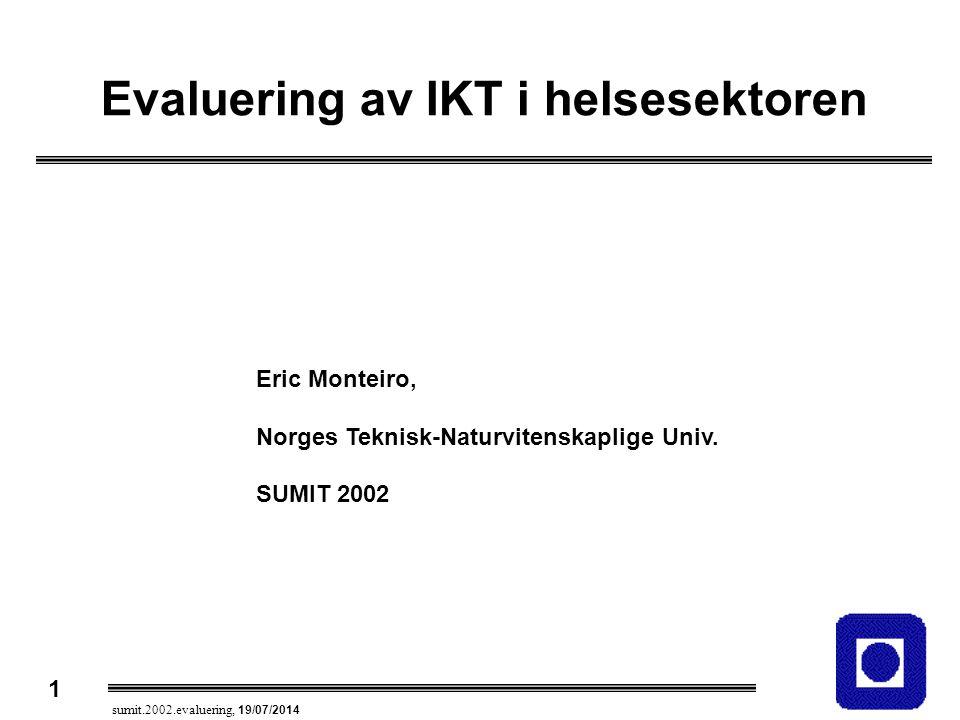 Evaluering av IKT i helsesektoren