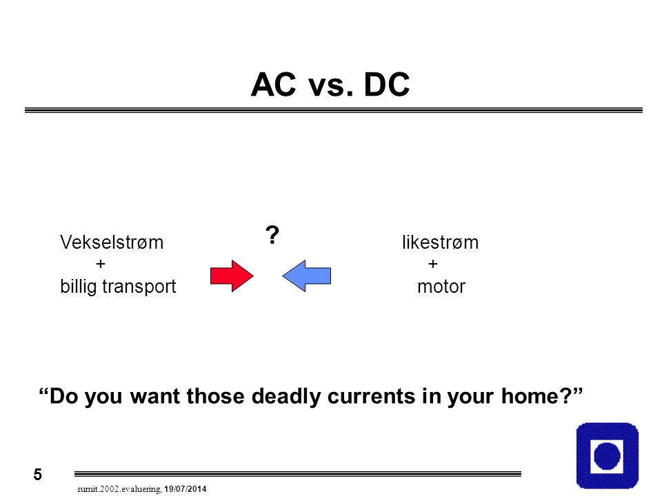 AC vs. DC Do you want those deadly currents in your home