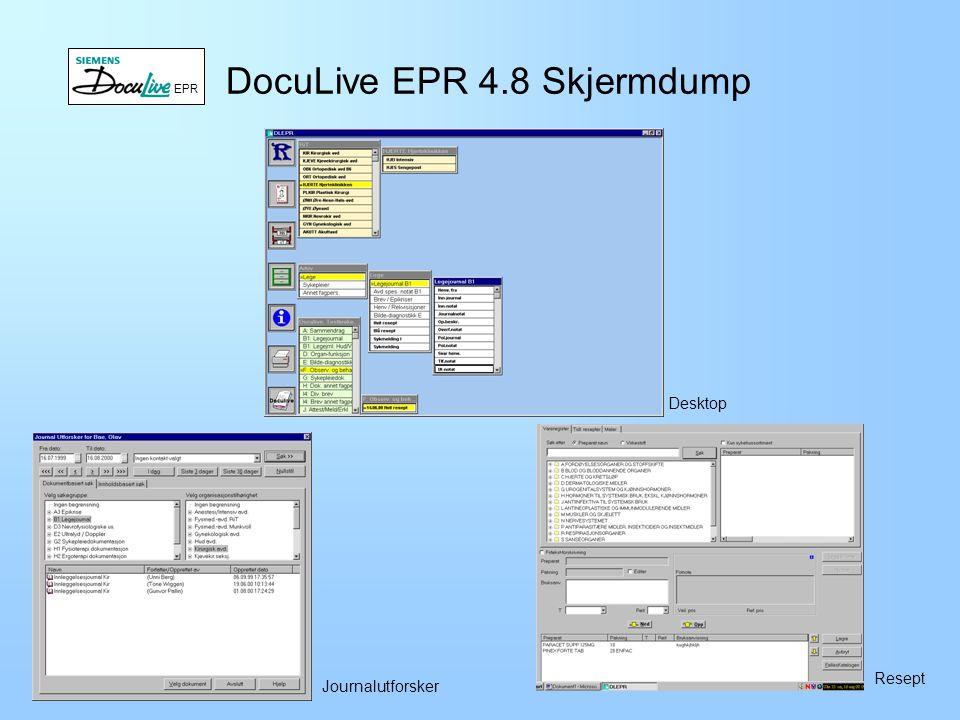 DocuLive EPR 4.8 Skjermdump