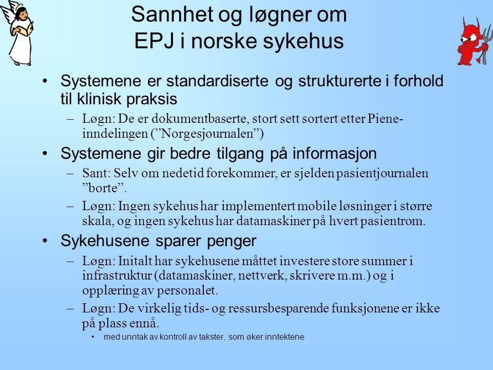 Sannhet og løgner om EPJ i norske sykehus