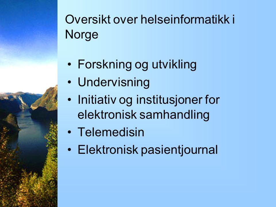 Oversikt over helseinformatikk i Norge