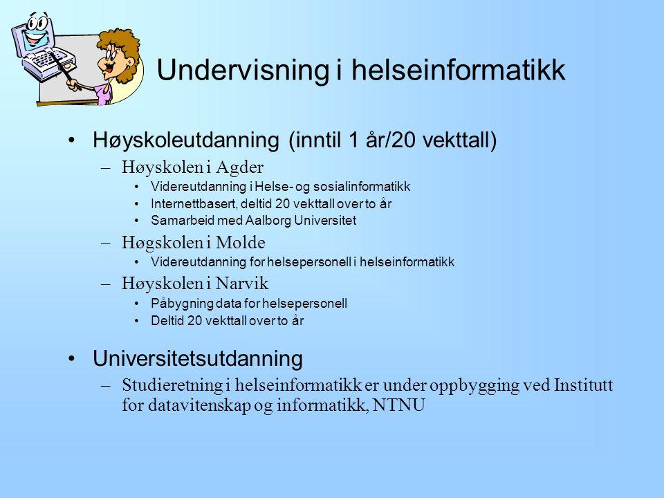 Undervisning i helseinformatikk