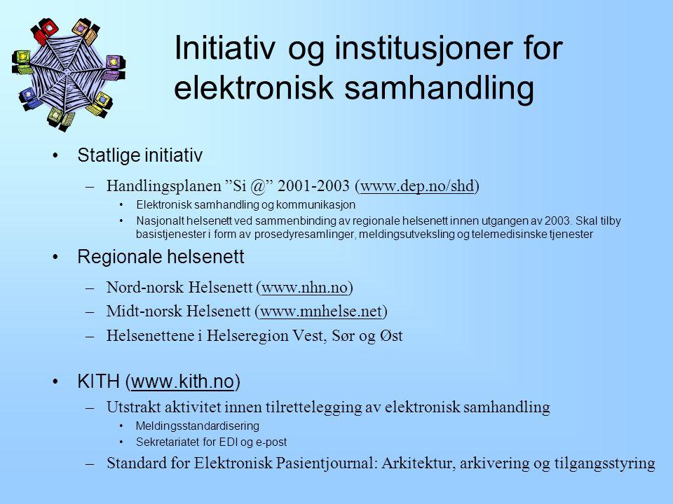 Initiativ og institusjoner for elektronisk samhandling