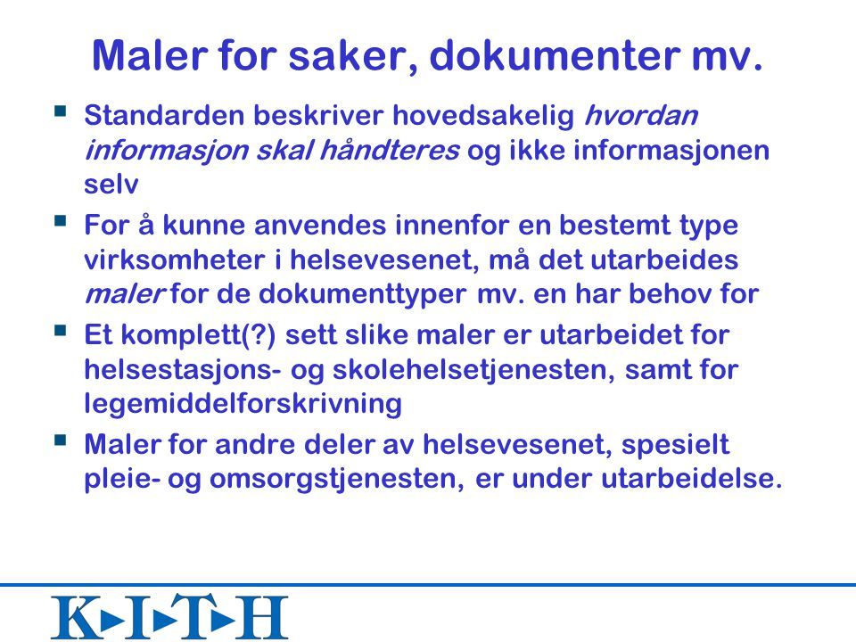 Maler for saker, dokumenter mv.