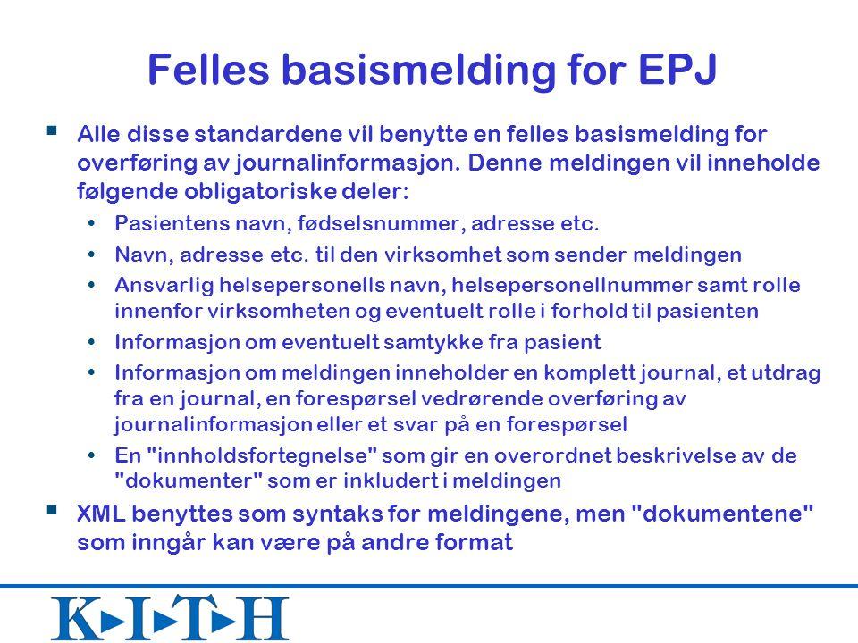 Felles basismelding for EPJ