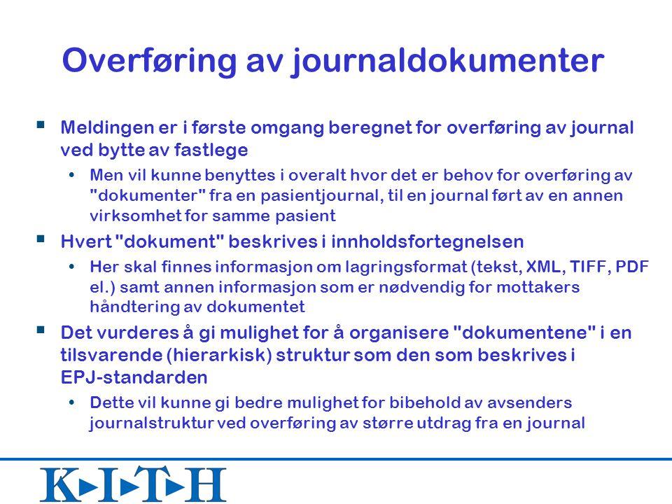 Overføring av journaldokumenter