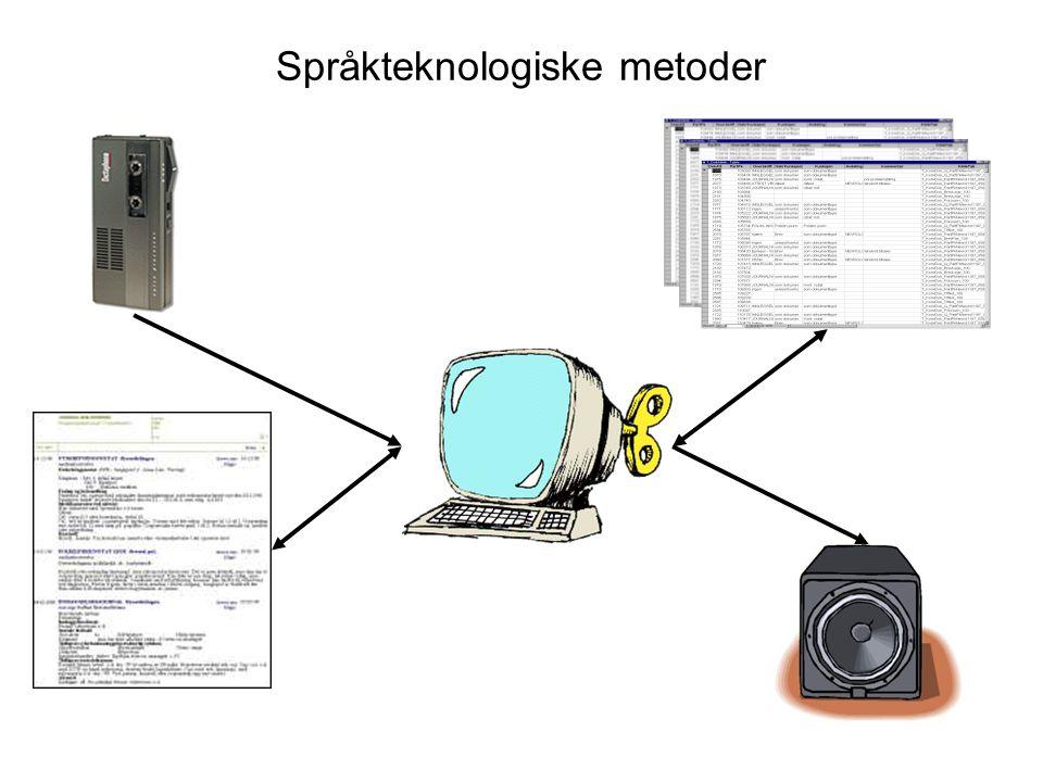 Språkteknologiske metoder