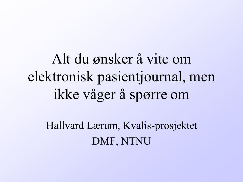 Hallvard Lærum, Kvalis-prosjektet DMF, NTNU