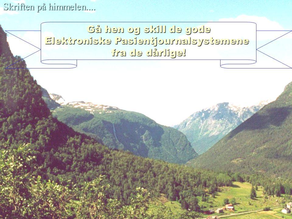 Elektroniske Pasientjournalsystemene