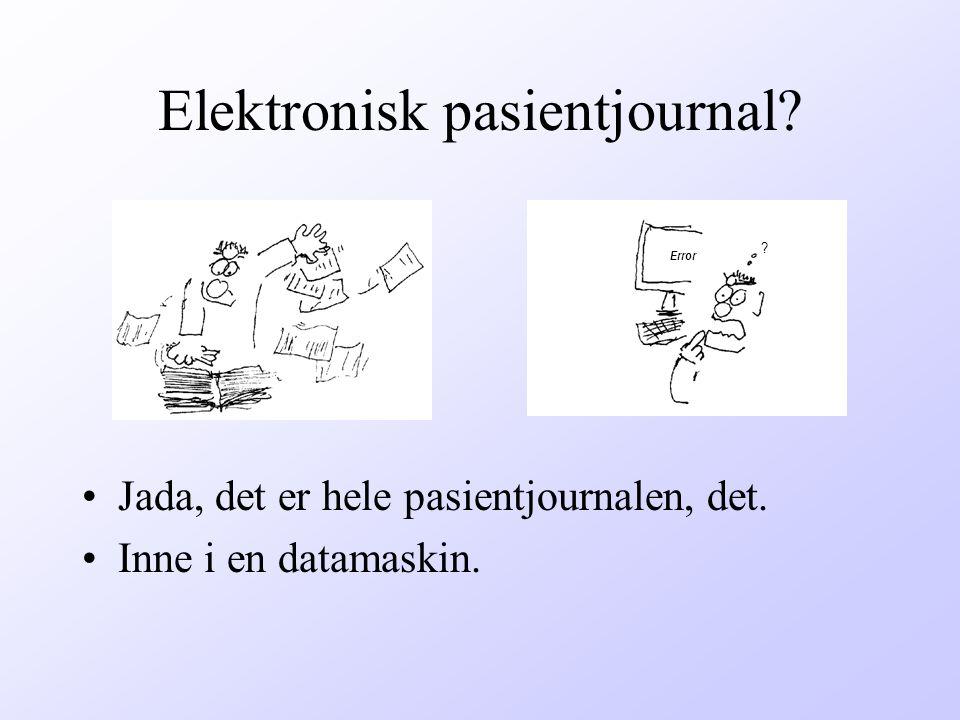 Elektronisk pasientjournal