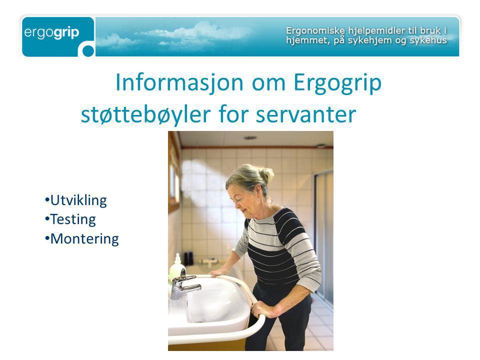 Informasjon om Ergogrip støttebøyler for servanter