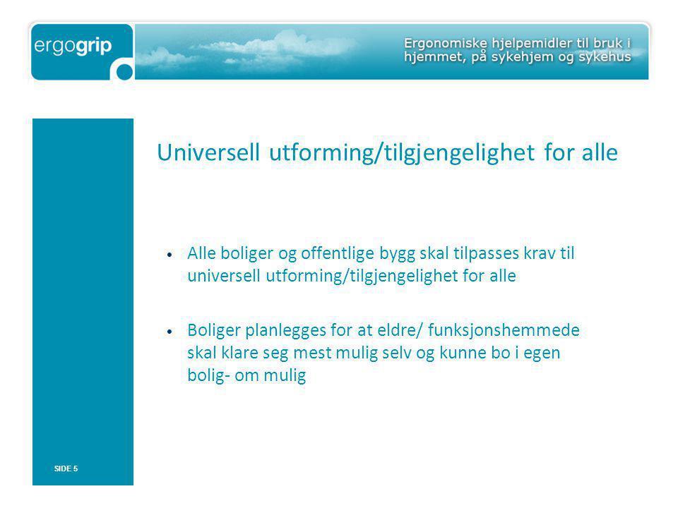 Universell utforming/tilgjengelighet for alle