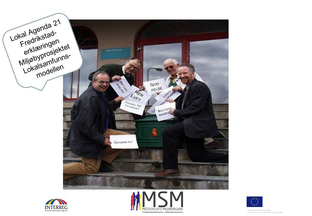Fredrikstad-erklæringen Miljøbyprosjektet Lokalsamfunns-modellen