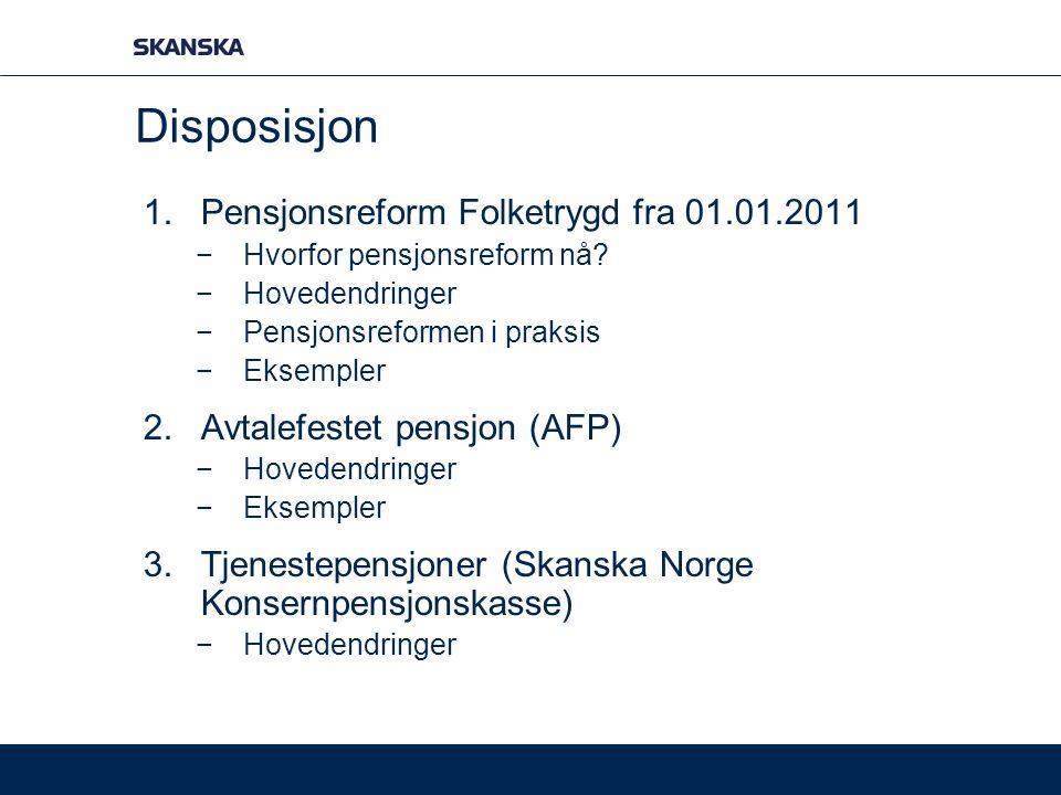 Disposisjon Pensjonsreform Folketrygd fra 01.01.2011