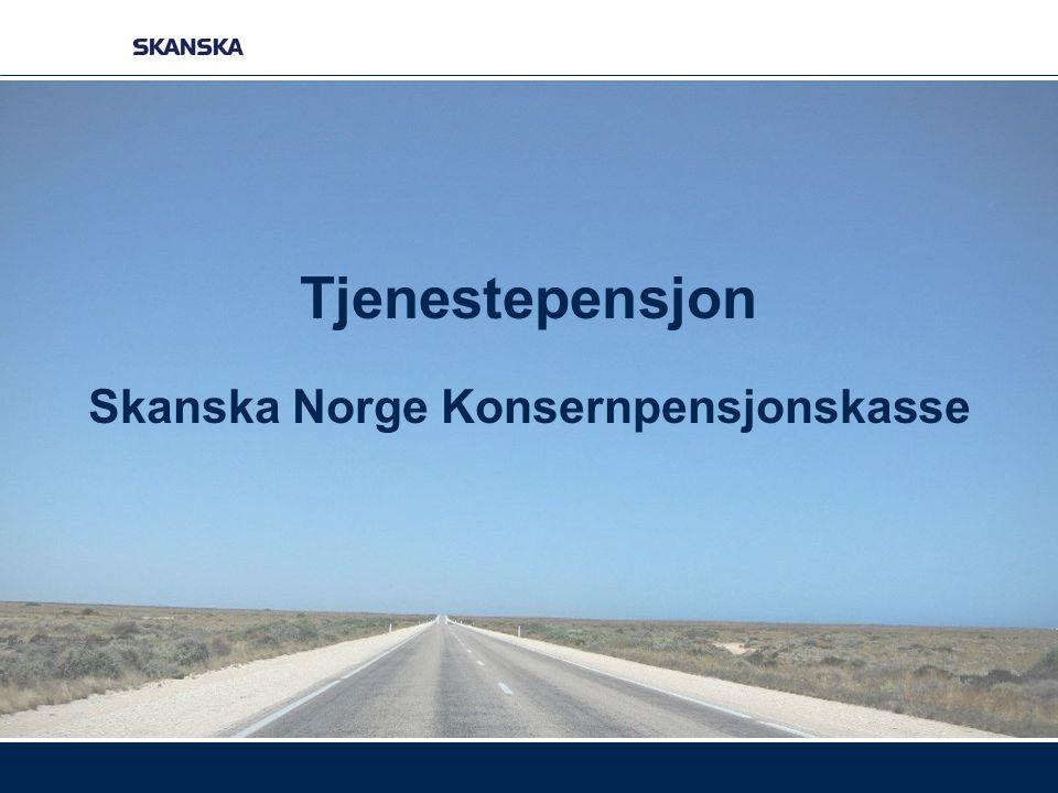 Tjenestepensjon Skanska Norge Konsernpensjonskasse