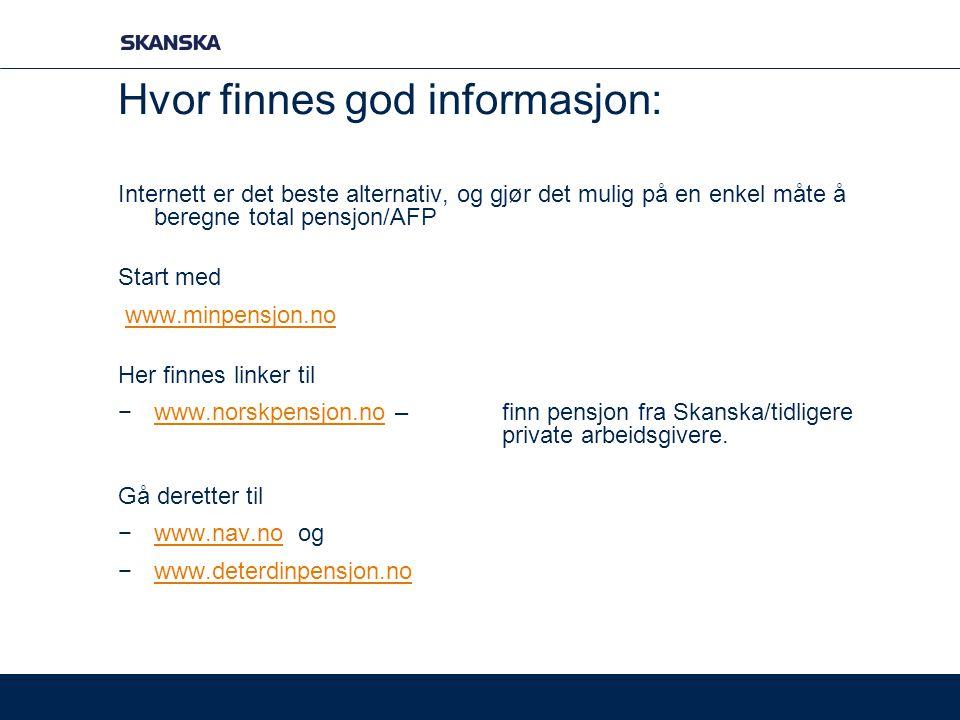 Hvor finnes god informasjon: