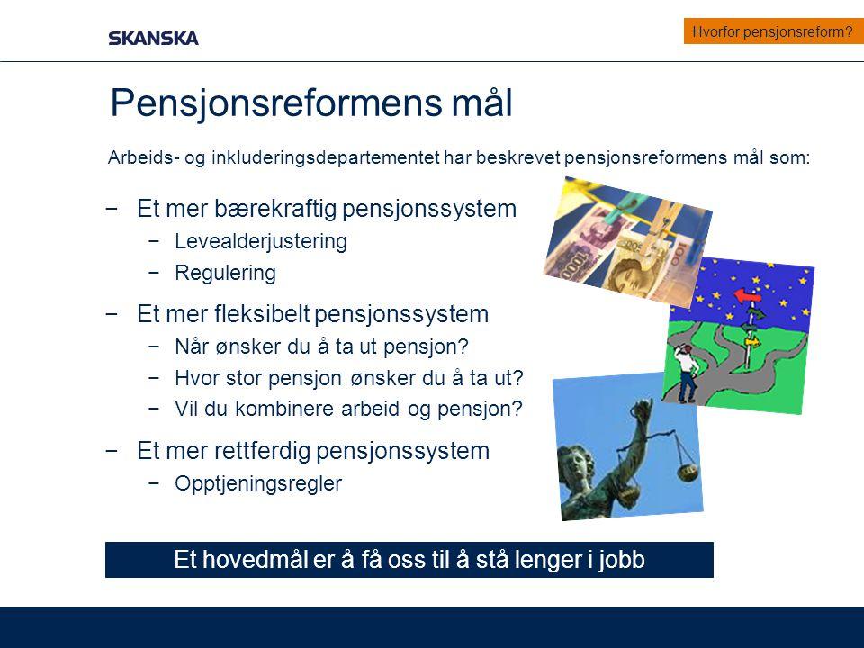Pensjonsreformens mål