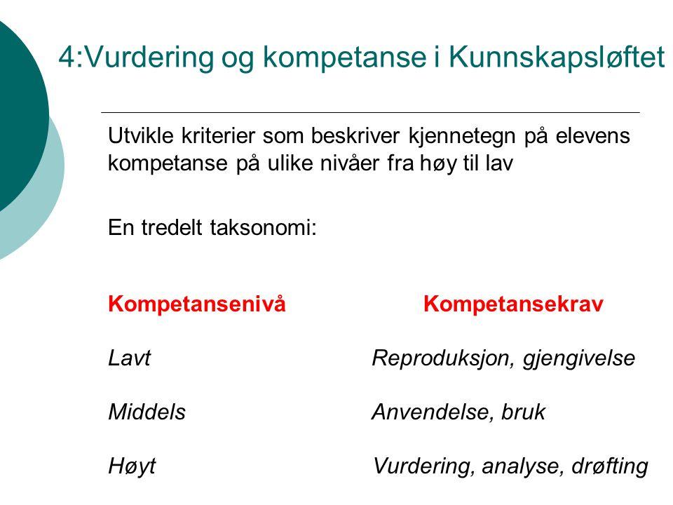 4:Vurdering og kompetanse i Kunnskapsløftet