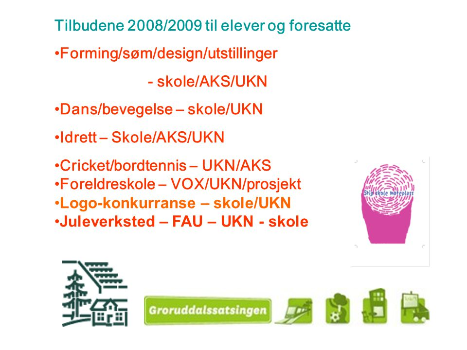 Tilbudene 2008/2009 til elever og foresatte