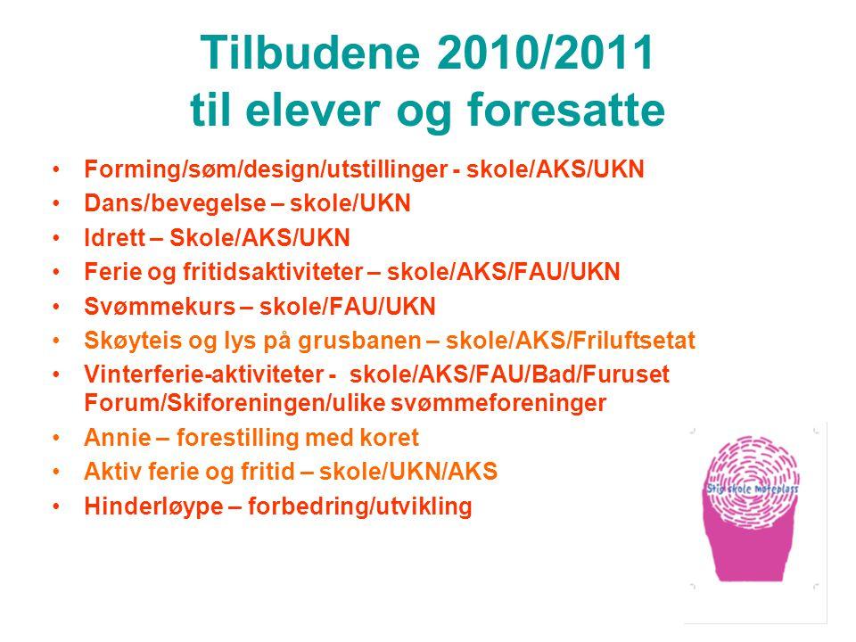 Tilbudene 2010/2011 til elever og foresatte