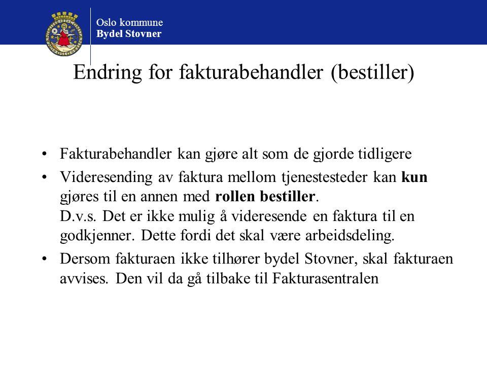 Endring for fakturabehandler (bestiller)