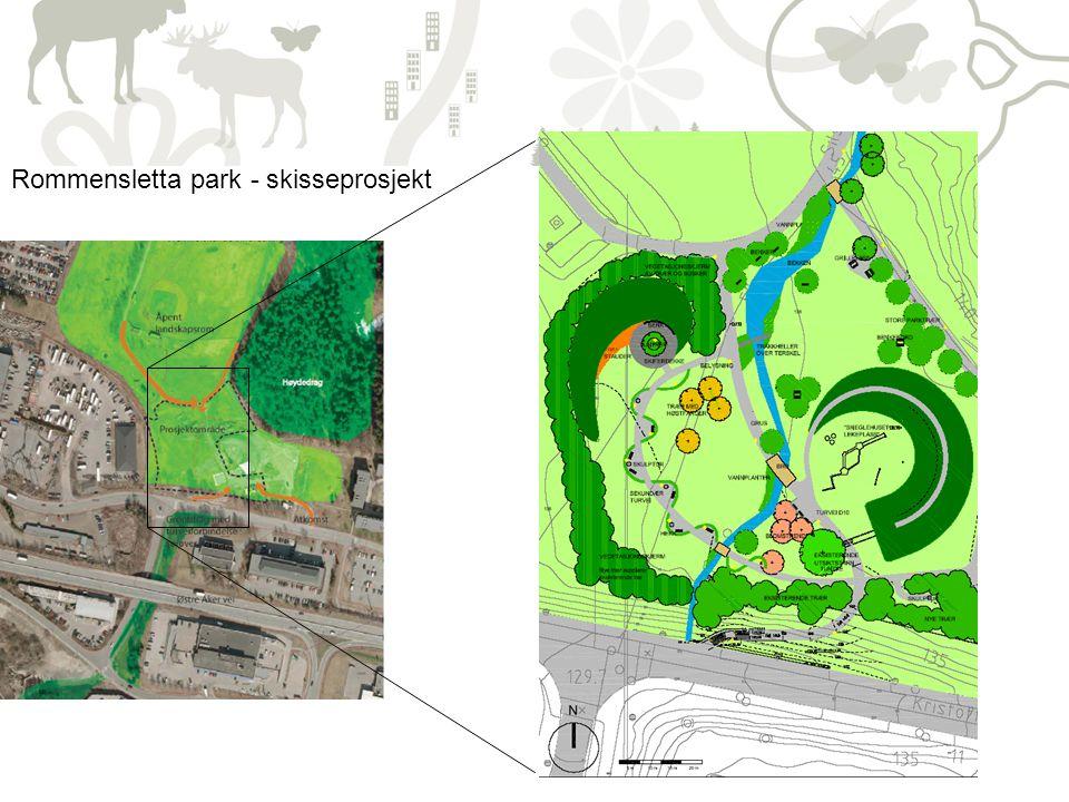 Rommensletta park - skisseprosjekt