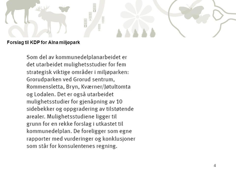 Forslag til KDP for Alna miljøpark