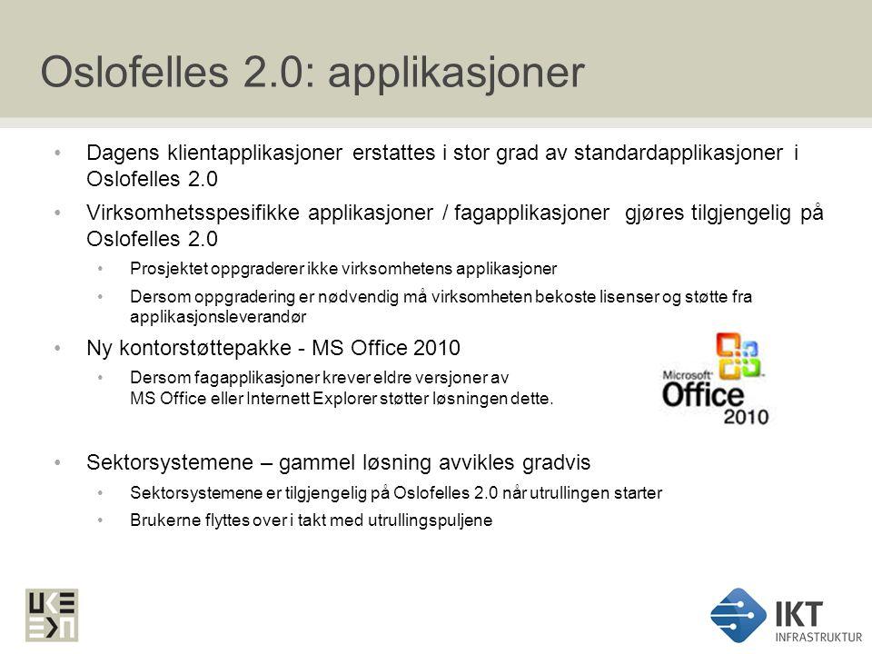 Oslofelles 2.0: applikasjoner