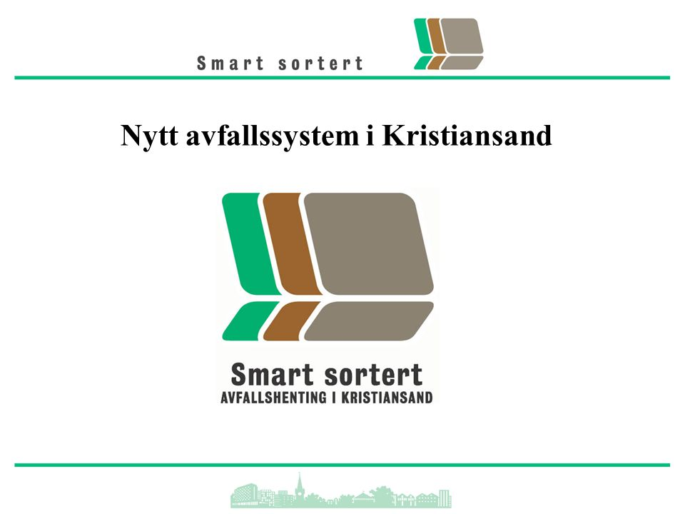 Nytt avfallssystem i Kristiansand