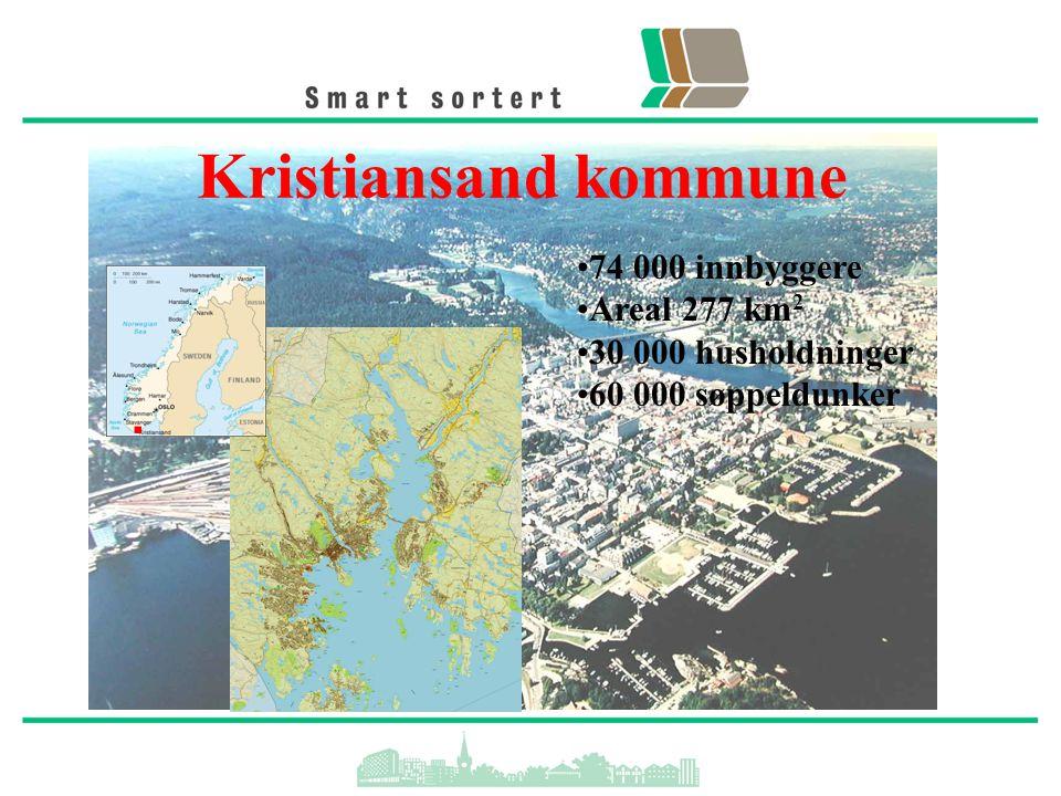 Kristiansand kommune 74 000 innbyggere Areal 277 km2