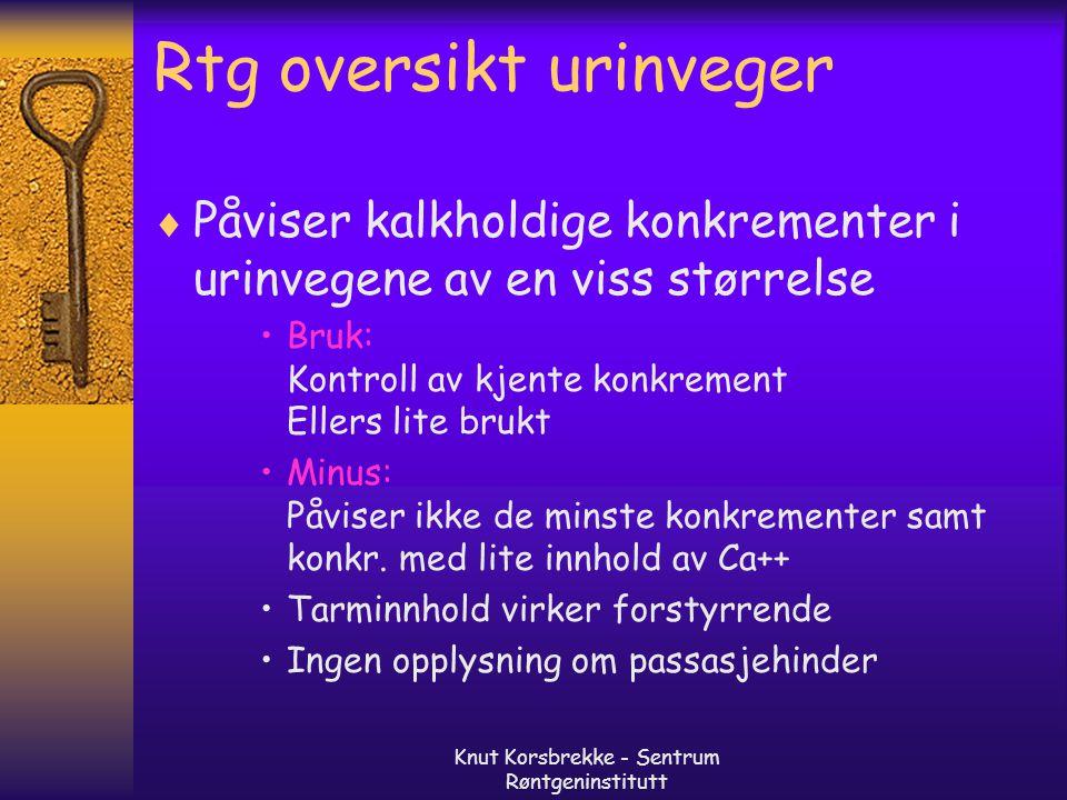 Rtg oversikt urinveger
