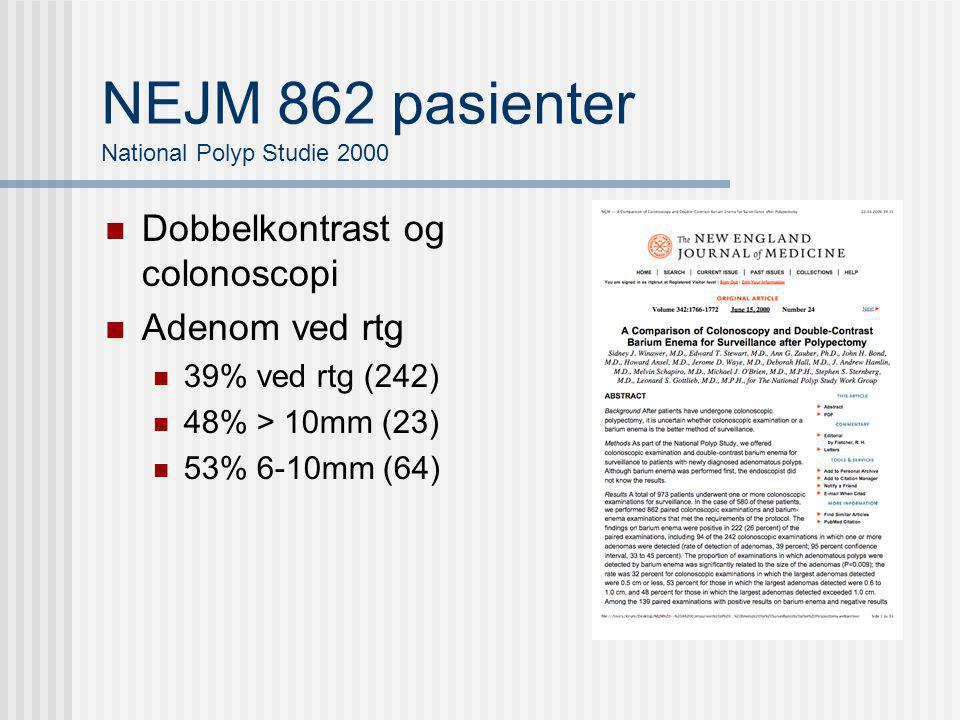 NEJM 862 pasienter National Polyp Studie 2000
