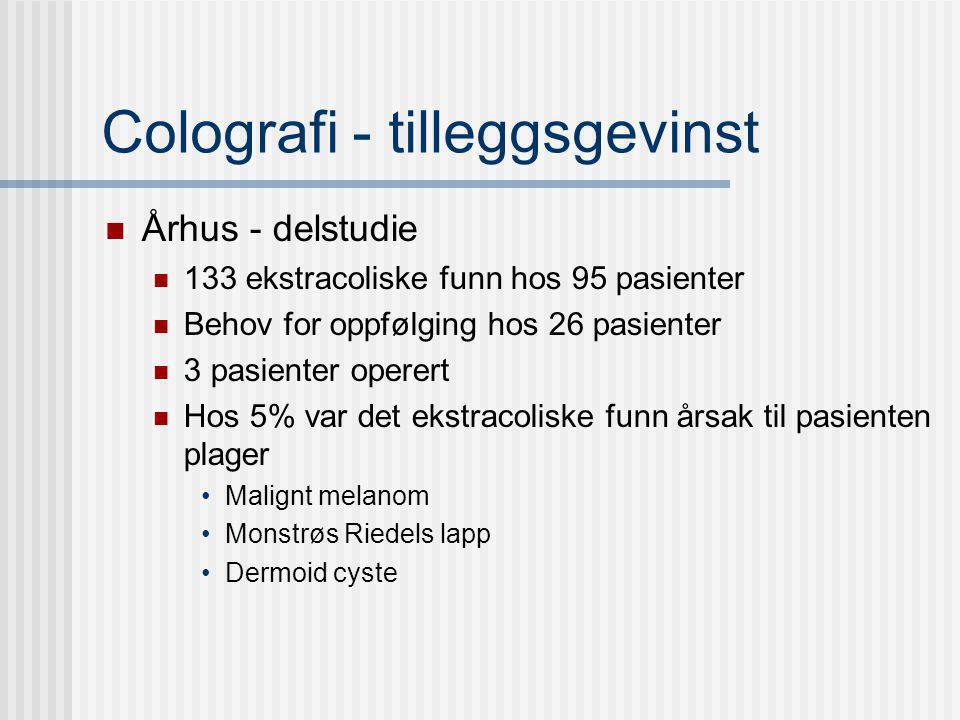 Colografi - tilleggsgevinst