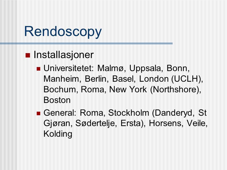 Rendoscopy Installasjoner