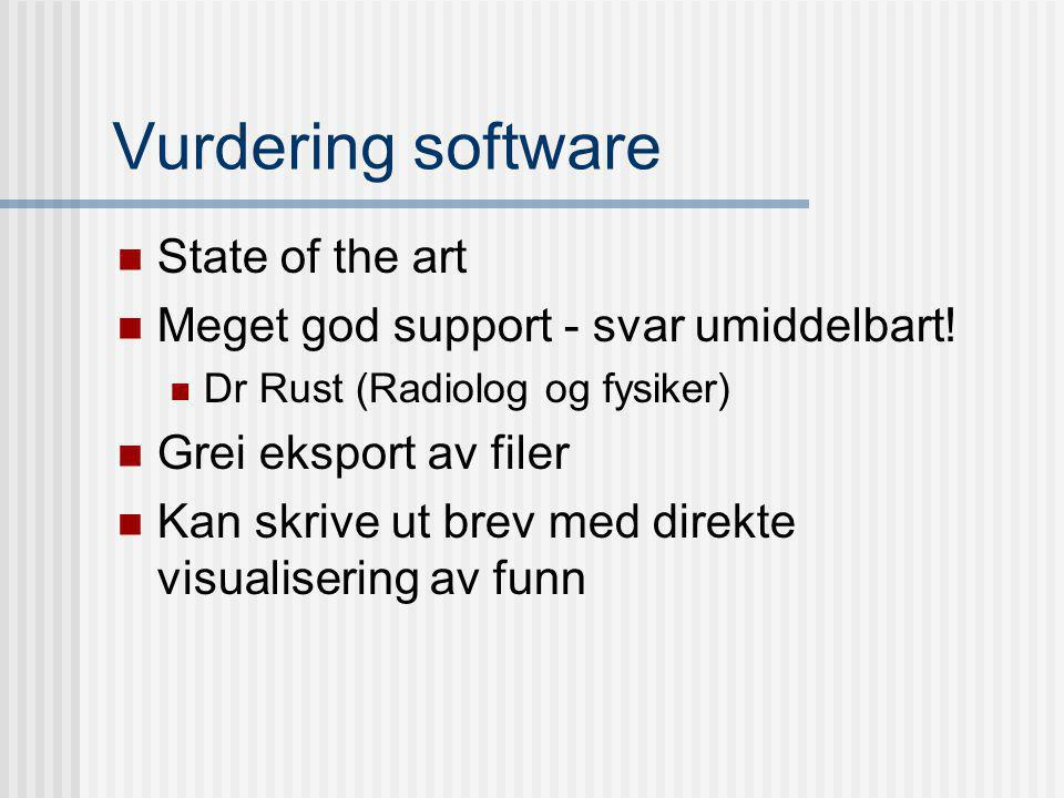 Vurdering software State of the art