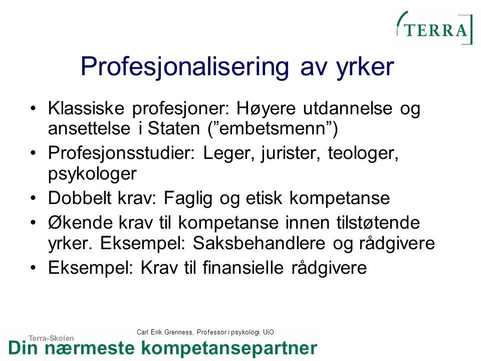 Profesjonalisering av yrker