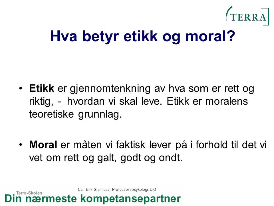 Hva betyr etikk og moral