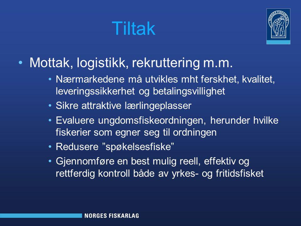Tiltak Mottak, logistikk, rekruttering m.m.