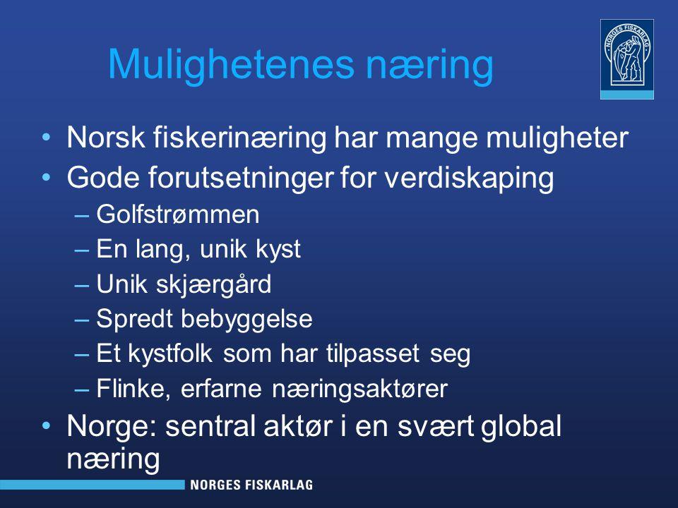 Mulighetenes næring Norsk fiskerinæring har mange muligheter