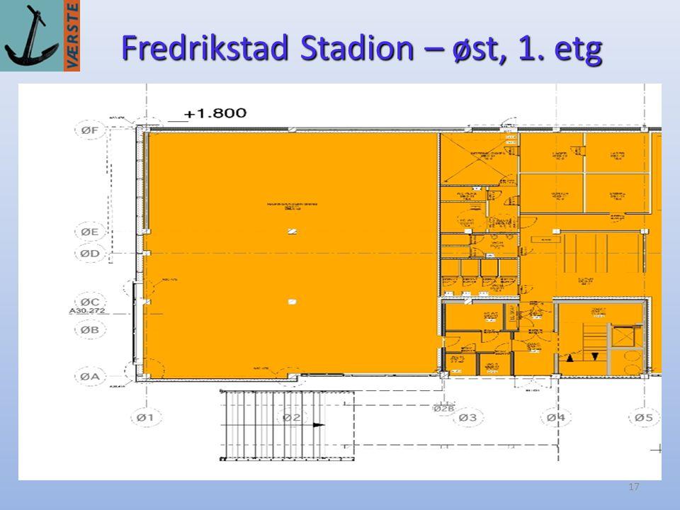 Fredrikstad Stadion – øst, 1. etg