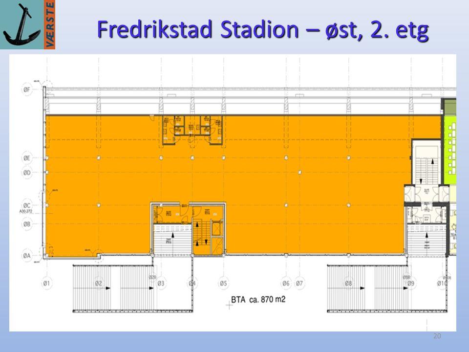 Fredrikstad Stadion – øst, 2. etg