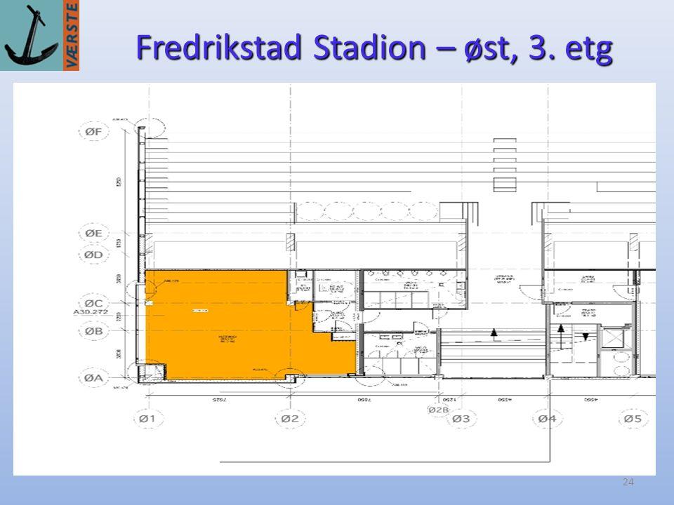 Fredrikstad Stadion – øst, 3. etg